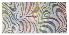 Sinuous Lines Beach Towel by Nareeta Martin