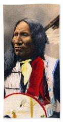 Sioux Chief Portrait Beach Sheet