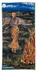 Sioux Woman Dancing Beach Sheet