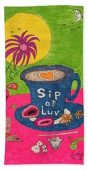 Sip Of Luv Beach Towel
