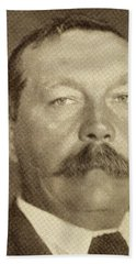 Sir Arthur Conan Doyle, 1859 -1930 Beach Towel
