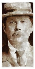 Sir Arthur Conan Doyle By Mary Bassett Beach Towel