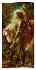 Sir Galahad Beach Towel by George Frederic Watts