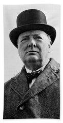 Sir Winston Churchill Beach Towel