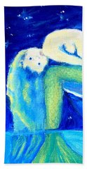 Beach Towel featuring the painting Siren Sea by Dawn Harrell