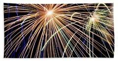 Sister Bay Fireworks Beach Towel