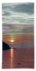 Sister Bay Sunset Beach Towel