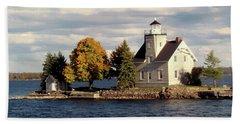 Sister Island Lighthouse Beach Towel