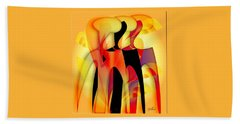 Sisters 4 Beach Towel by Iris Gelbart