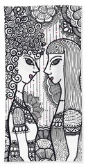 Sisters - Ink Beach Towel