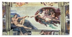 Sistine Chapel Ceiling Creation Of Adam Beach Towel