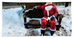 Sit With Santa Beach Towel