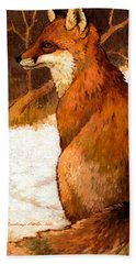 Sitting Fox Beach Towel