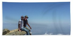 Sitting On Top Of The World Beach Towel