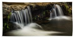 Beach Towel featuring the photograph Sitting Under The Waterfall  by Saija Lehtonen