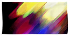 Beach Towel featuring the painting Sivilia 1 Abstract by Donna Corless