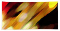 Beach Towel featuring the painting Sivilia 11 Abstract by Donna Corless