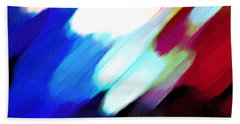Beach Towel featuring the painting Sivilia 12 Abstract by Donna Corless
