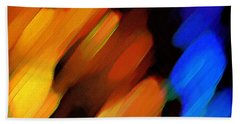 Beach Towel featuring the painting Sivilia 3 Abstract by Donna Corless