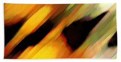 Beach Sheet featuring the painting Sivilia 8 Abstract by Donna Corless
