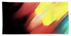 Beach Towel featuring the painting Sivilia 9 Abstract by Donna Corless
