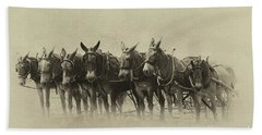 Six Mules, And One More Beach Sheet by Nicki McManus