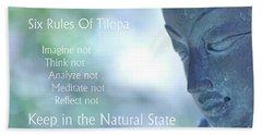 Six Rules Of Tilopa Beach Sheet
