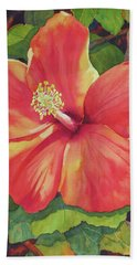 Beach Towel featuring the painting Sizzle by Judy Mercer