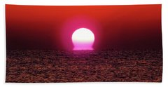 Beach Towel featuring the photograph Sizzling Sunrise by D Hackett