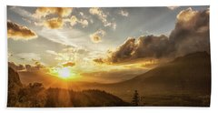 Skagit Valley Sunset Beach Towel