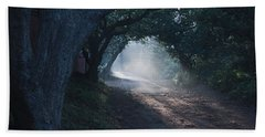 Skc 4671 Road Towards Light Beach Towel by Sunil Kapadia