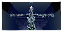 Beach Towel featuring the digital art Skeletal System by Iowan Stone-Flowers