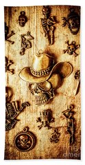 Skeleton Pendant Party Beach Towel by Jorgo Photography - Wall Art Gallery