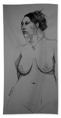 Sketch For Hollie Beach Towel