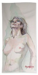 Beach Sheet featuring the painting Sketch For Megan Iv by Ray Agius