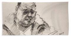 Sketch Man 14 Beach Towel