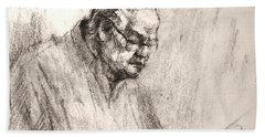 Sketch Man 17 Beach Towel