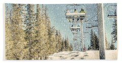 Ski Colorado Beach Towel by Juli Scalzi