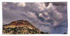 Skies Over Montana Beach Sheet by Gina Savage