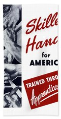 Skilled Hands For America Beach Towel