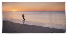 Beach Towel featuring the photograph Skipping Stones by Ray Warren