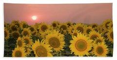 Skn 2179 Sunflower Landscape Beach Towel