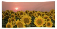 Skn 2179 Sunflower Landscape Beach Sheet