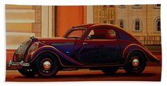 Skoda Popular Sport Monte Carlo 1935 Painting Beach Towel