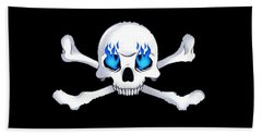 Crossbones 1 T-shirt Beach Towel