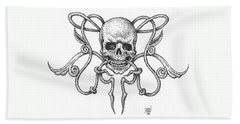 Skull Design Beach Towel