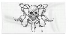 Skull Design Beach Sheet