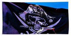Skull Flag With Dagger Beach Towel