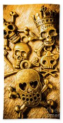 Beach Towel featuring the photograph Skulls And Crossbones by Jorgo Photography - Wall Art Gallery
