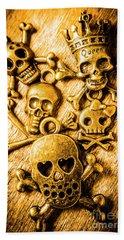 Beach Sheet featuring the photograph Skulls And Crossbones by Jorgo Photography - Wall Art Gallery